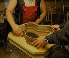 guitar production in luthier´s workshop Hruš